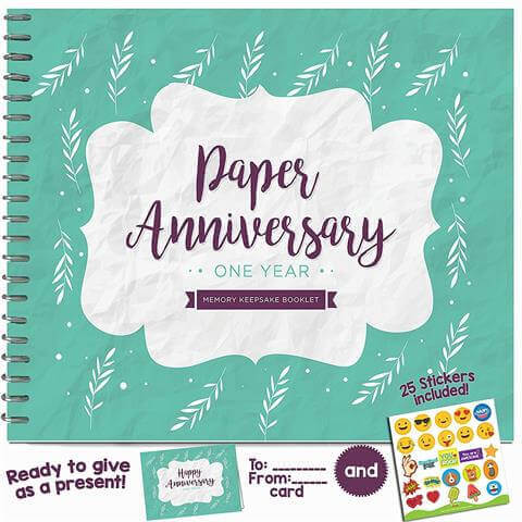 1 Anniversary Memory Journal