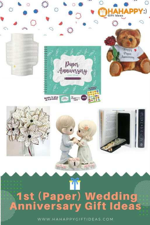 Romantic st paper wedding anniversary gift ideas