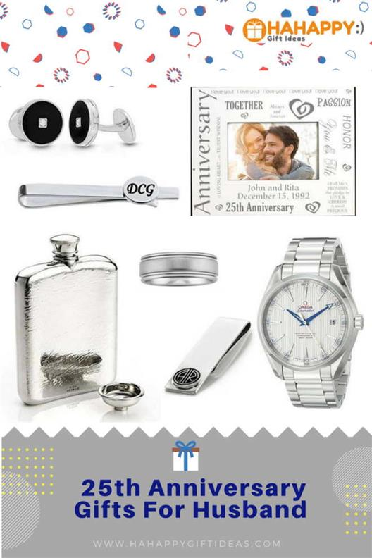 25th Silver Wedding Anniversary Gifts For Husband Hahappy Gift Ideas