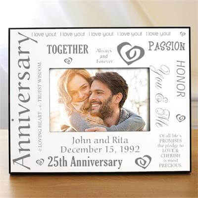 Silver Wedding Anniversary Gifts For Husband