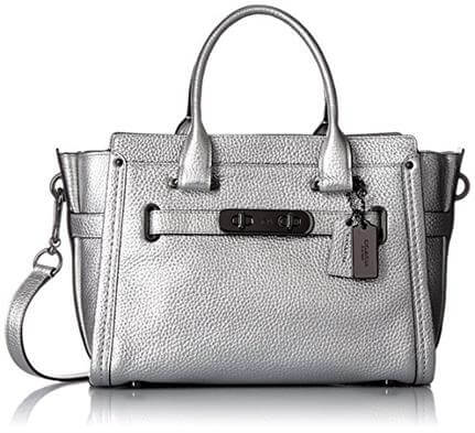 COACH Women Pebbled Leather Coach Swagger