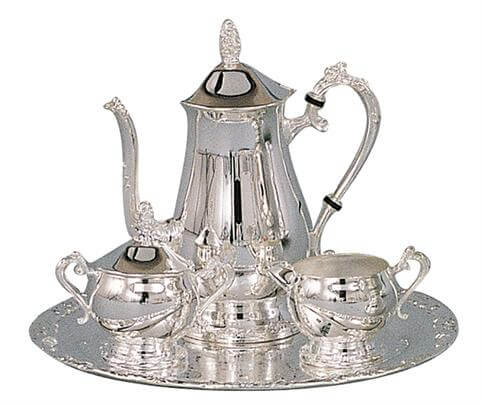 Romantica Collection Silver Plated Coffee Set
