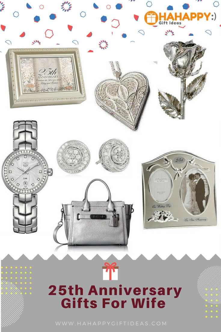 The best silver 25th wedding anniversary gifts for wife for Best gift for wedding anniversary