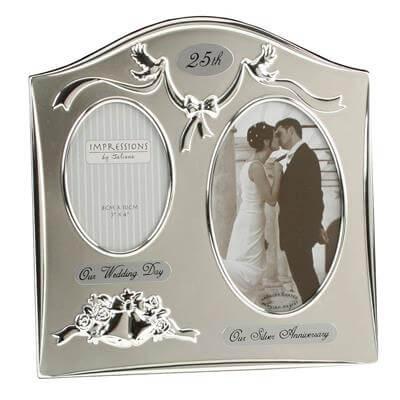 Silverplated Wedding Anniversary Gift Photo Frame
