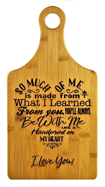 Great Mothers Day Gift Ideas Bamboo Cutting Board